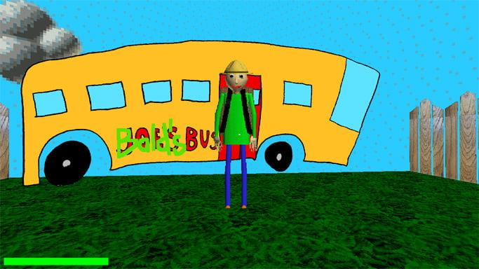 Балди возле автобуса